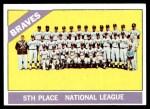 1966 Topps #326 xDOT  Braves Team Front Thumbnail