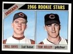 1966 Topps #44   -  Tom Kelley / Bill Davis Indians Rookies Front Thumbnail