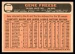 1966 Topps #319 BLU Gene Freese  Back Thumbnail