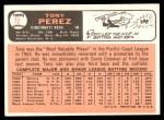 1966 Topps #72  Tony Perez  Back Thumbnail