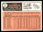 1966 Topps #90  Luis Aparicio  Back Thumbnail