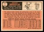 1966 Topps #423  Ernie Broglio  Back Thumbnail