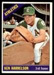 1966 Topps #55  Ken Harrelson  Front Thumbnail