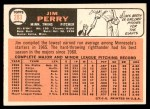 1966 Topps #283  Jim Perry  Back Thumbnail