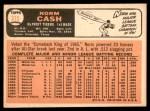 1966 Topps #315  Norm Cash  Back Thumbnail