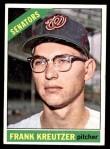 1966 Topps #211  Frank Kreutzer  Front Thumbnail