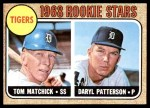 1968 Topps #113   -  Tom Matchick / Daryl Patterson Tigers Rookies Front Thumbnail