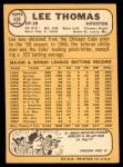 1968 Topps #438  Lee Thomas  Back Thumbnail