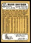 1968 Topps #504  Russ Snyder  Back Thumbnail