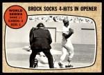 1968 Topps #151   -  Lou Brock 1967 World Series - Game #1 - Brock Socks 4-Hits in Opener Front Thumbnail