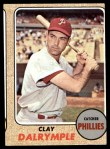 1968 Topps #567  Clay Dalrymple  Front Thumbnail