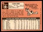 1969 Topps #512  Cleon Jones  Back Thumbnail