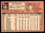 1969 Topps #179  Don Pavletich  Back Thumbnail