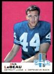 1969 Topps #76  Dick LeBeau  Front Thumbnail
