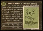 1969 Topps #210  Dave Edwards  Back Thumbnail