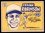 1970 Topps #463   -  Frank Robinson All-Star Back Thumbnail