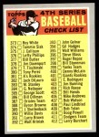1970 Topps #343 RED  Checklist 4 Front Thumbnail