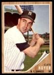 1962 Topps #490  Clete Boyer  Front Thumbnail