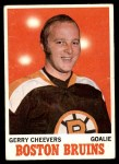 1970 Topps #1  Gerry Cheevers  Front Thumbnail