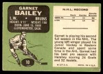 1970 Topps #10  Garnet Bailey  Back Thumbnail