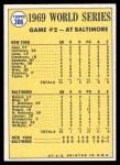 1970 Topps #306   -  Donn Clendenon 1969 World Series - Game #2 - Clendenon's HR Breaks Ice Back Thumbnail