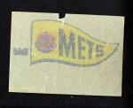 1966 Topps Rub Offs    New York Mets Pennant Back Thumbnail