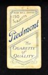 1909 T206  Frank Isbell  Back Thumbnail
