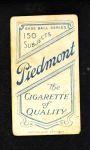 1909 T206  Ed Hahn  Back Thumbnail