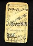 1909 T206  Dummy Taylor  Back Thumbnail