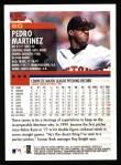 2000 Topps #60  Pedro Martinez  Back Thumbnail
