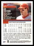 2000 Topps #61  Lee Stevens  Back Thumbnail
