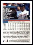 2000 Topps #97  Garret Anderson  Back Thumbnail