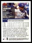 2000 Topps #116  Jermaine Dye  Back Thumbnail