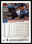 2000 Topps #128  Chuck Finley  Back Thumbnail
