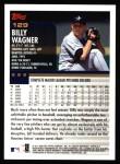 2000 Topps #129  Billy Wagner  Back Thumbnail