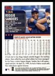 2000 Topps #134  Reggie Sanders  Back Thumbnail