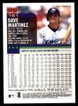 2000 Topps #161  Dave Martinez  Back Thumbnail