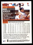 2000 Topps #172  Mike Bordick  Back Thumbnail