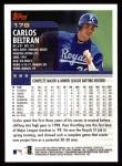 2000 Topps #178  Carlos Beltran  Back Thumbnail
