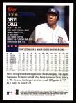 2000 Topps #179  Deivi Cruz  Back Thumbnail
