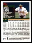 2000 Topps #199  Jason Giambi  Back Thumbnail