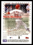 2000 Topps #236 A  -  Mark McGwire Magic Moments Back Thumbnail