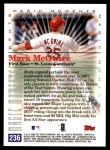 2000 Topps #236 B  -  Mark McGwire Magic Moments Back Thumbnail