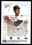 2000 Topps #237 C  -  Hank Aaron Magic Moments Back Thumbnail