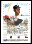 2000 Topps #237 A  -  Hank Aaron Magic Moments Back Thumbnail