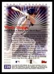 2000 Topps #239 B  -  Wade Boggs Magic Moments Back Thumbnail