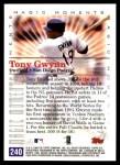 2000 Topps #240 D  -  Tony Gwynn Magic Moments Back Thumbnail