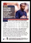 2000 Topps #302  Cristian Guzman  Back Thumbnail