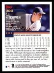 2000 Topps #303  C.J. Nitkowski  Back Thumbnail