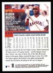 2000 Topps #316  Ruben Mateo  Back Thumbnail